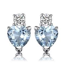 <b>JewelryPalace Heart</b> Love 1ct Natural Aquamarine White Topaz ...