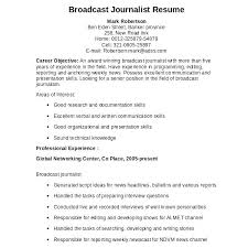 News Script Template Download Journalist Resume Sample Radio Package ...