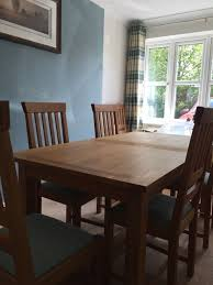laura ashley milton oak dining table 6 chairs