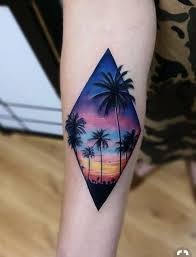 Pin By Aaron Lochner On Tattoos Landscape Tattoo Sunset Tattoos