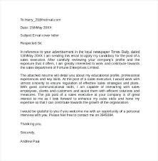 Email Cover Letter Examples For Resume Email Cover Letter Example
