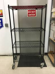 36 uline heavy wire mobile storage rack shelving with casters