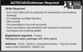 Autocad Draftsman Autocad Draftsman Required Jobs In Occo