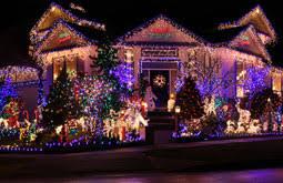 xmas lighting ideas. San Jose Christmas Lights Blue And White On House Lawn Xmas Lighting Ideas