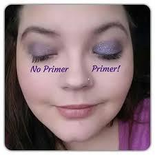 no primer vs eye shadow parison youniques amberdorsey younique eyeshadow