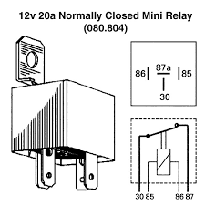 normally closed relay wiring diagram normally discover your 12v 20a normally closed mini relay for vintage classic cars
