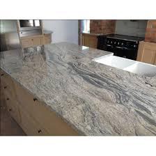 eased edge white piracema granite kitchen countertops