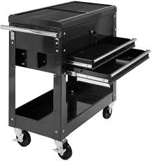 details about mechanics tool cart slide top utility garage storage rolling cabinet organizer