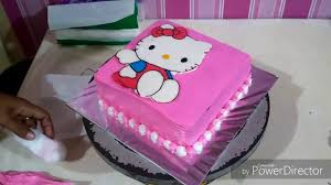 Cara Membuat Kue Ultah Hello Kitty Buttercream Transfer How To