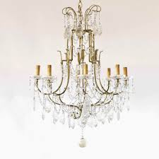 vintage italian chandelier with iron frame and unusual crystal prisims