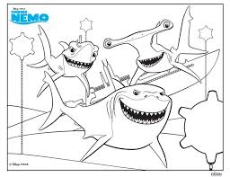 Finding Nemo Shark Coloring Pages