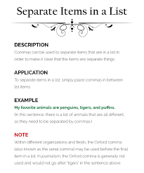 When To Use Comma How To Use Commas The Visual Communication Guy Designing Writing