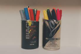 marker holder out of spray cans diy