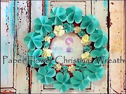 Christmas Paper Flower Wreath Diy Paper Flower Origami Christmas Wreath How To Prepare Paper