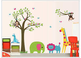 owl tree erfly jungle wall stickers