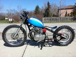 honda sl350 dirt bike bobber build