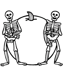 Skeleton Coloring Pages Free Printable For Kids