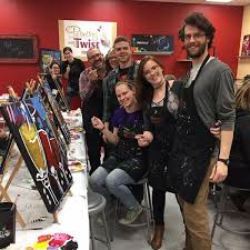 once a month painting with a twist fenton offers maniac mondays and bogo nights painters will get 10 per seat booked and a one get one