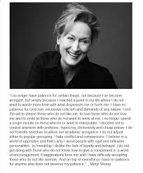 i no longer have patience for certain things meryl streep   i no longer have patience for certain things
