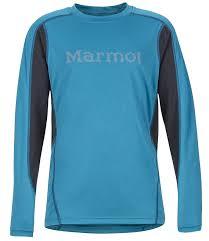 Marmot Minimalist Size Chart Marmot Boys Windridge Graphic Technical Ls Shirt L Turkish Tile