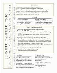 Medical Billing Resume Extraordinary Medical Coding Resume Format Fresh Medical Billing Resume Sample
