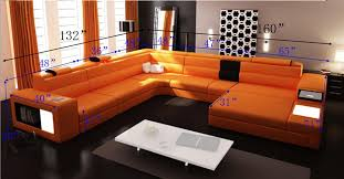 list price 375000 orange sectional sofa r52