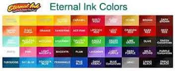 Eternal Ink Color Chart Eternal Individual Colors