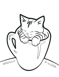 C Is For Cup Coloring Page Coffee Pages Betterfor