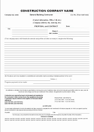 Contract Bid Proposal Construction Proposal Forms Unique Construction Proposal Template
