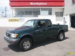 1999 Imperial Jade Mica Toyota Tacoma SR5 V6 Extended Cab 4x4 ...