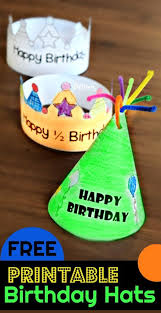 There are various paper crown templates available here. Printable Birthday Hat