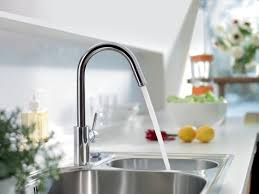 hansgrohe 14872001 chrome talis s pull down single function kitchen faucet with high arc spout magnetic docking includes lifetime warranty faucet com
