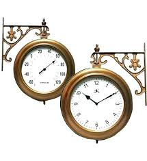 outdoor thermometer and clock awesome wall clocks thermometers combo regarding 11