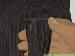 image titled apply tape in hair extensions step 6