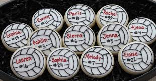 Volleyball Party Decorations Volleyball Cookie Favors Sports Cookies Birthday Cookie