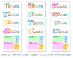 Teachers Newsletter Templates Free Newsletter Templates For Teachers From Worddraw Com