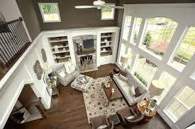 2 story family room house plans lighting