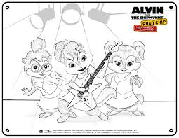 alvin hard alvin and the chipmunks coloring pages brittany