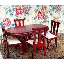 dollhouse dining room furniture. 1/12 Scale Dollhouse Dining Room Furniture Table With 4 Chairs Set N