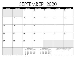 Letter (8.5 x 11) a4 (210mm x 297mm). September 2020 Calendar Nz Printable Belajar Blogging Tips Blogging