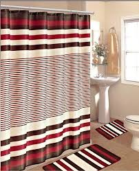 interior charming shower curtains and rugs elegant bathroom burdy brown stripe bath sets one 72 x