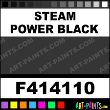 Steam Power Black Railroad Acrylics Airbrush Spray Paints