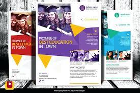 School Pamphlet Sample Design Free Download Educational Brochure Psd ...