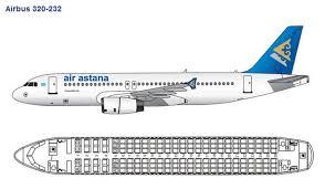 Air Canada Airbus A320 Jet Seating Chart Air Astana Airlines Airbus A320 Aircraft Seating Chart