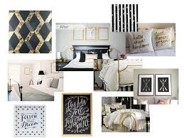 Black White and Gold Guest Bedroom | Decorate My Life