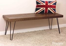hairpin leg bench reclaimed wood dining entry throughout decorations 1 reclaimed wooden bench n25 reclaimed