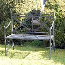 bench design 2 seater metal garden bench wrought iron garden furniture antique tradisional wood bench