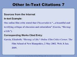 In Text Citation For Website Mla Mla By Purdue Owl
