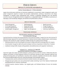 Resume Purchasing Procurement Manager Resume Example Supply Chain