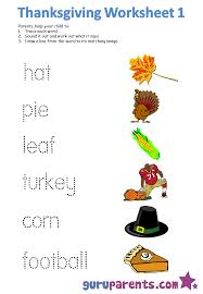 Kindergarten Thanksgiving Worksheets Printables - Everylev Elofs
